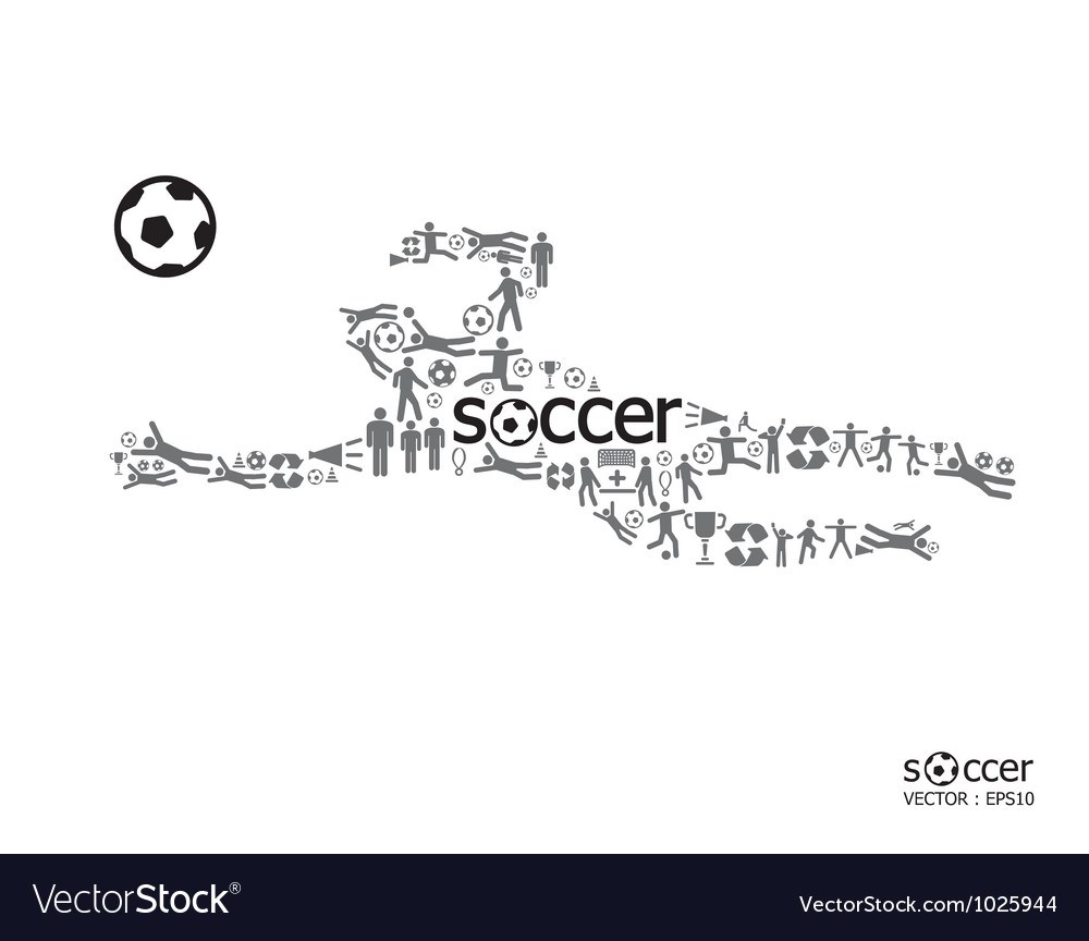 Active soccer player shape concept vector   Price: 1 Credit (USD $1)