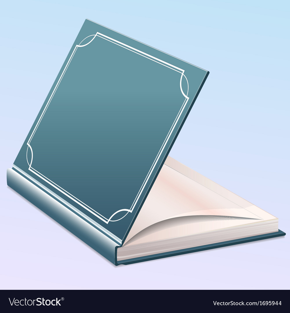 Book half opened vector | Price: 1 Credit (USD $1)