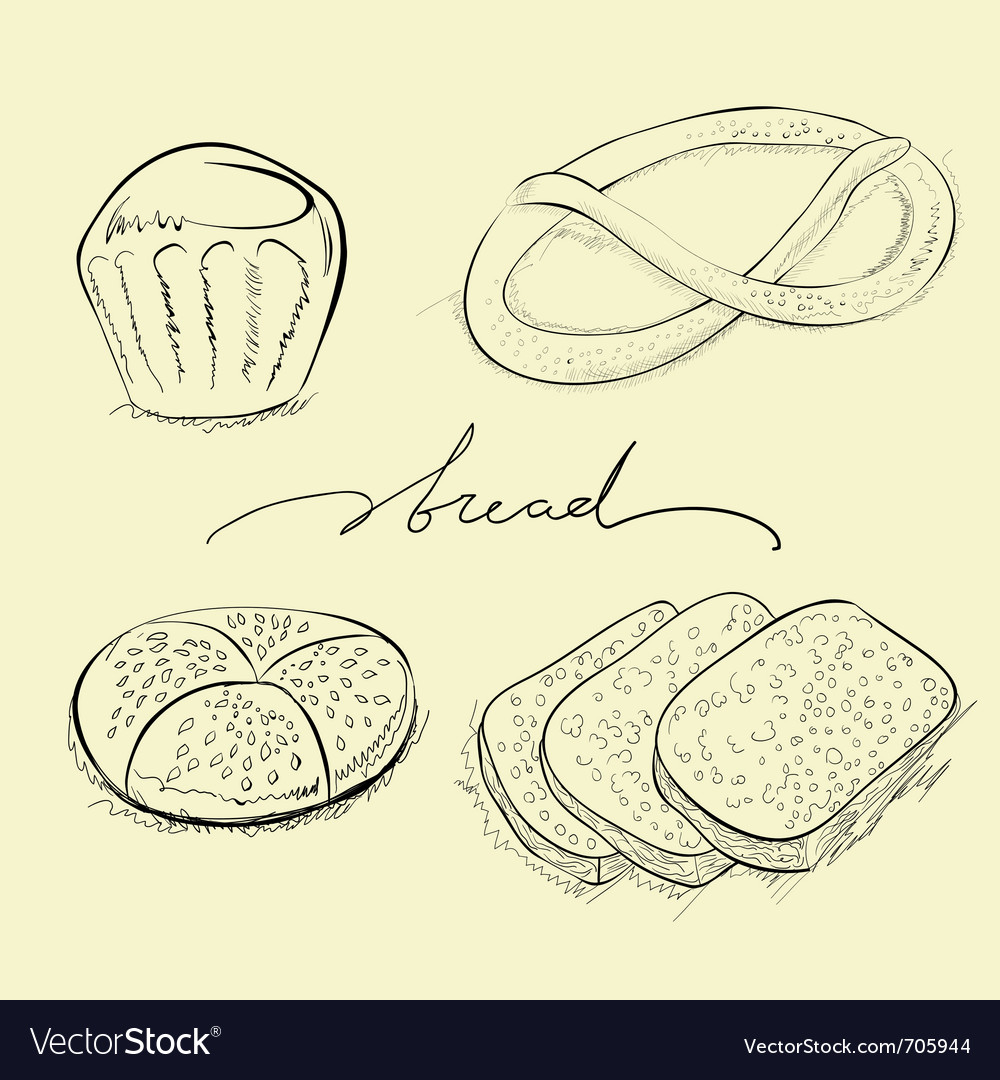 Bread cake and pretzel vector | Price: 1 Credit (USD $1)