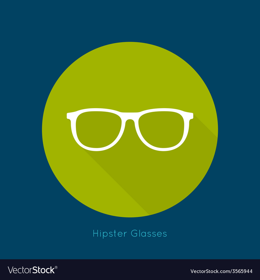 Geek glasses icon with long shadows vector | Price: 1 Credit (USD $1)