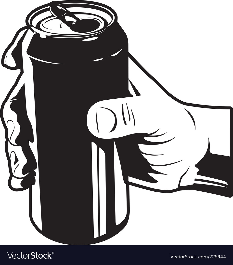 Holding a can of cola vector | Price: 1 Credit (USD $1)