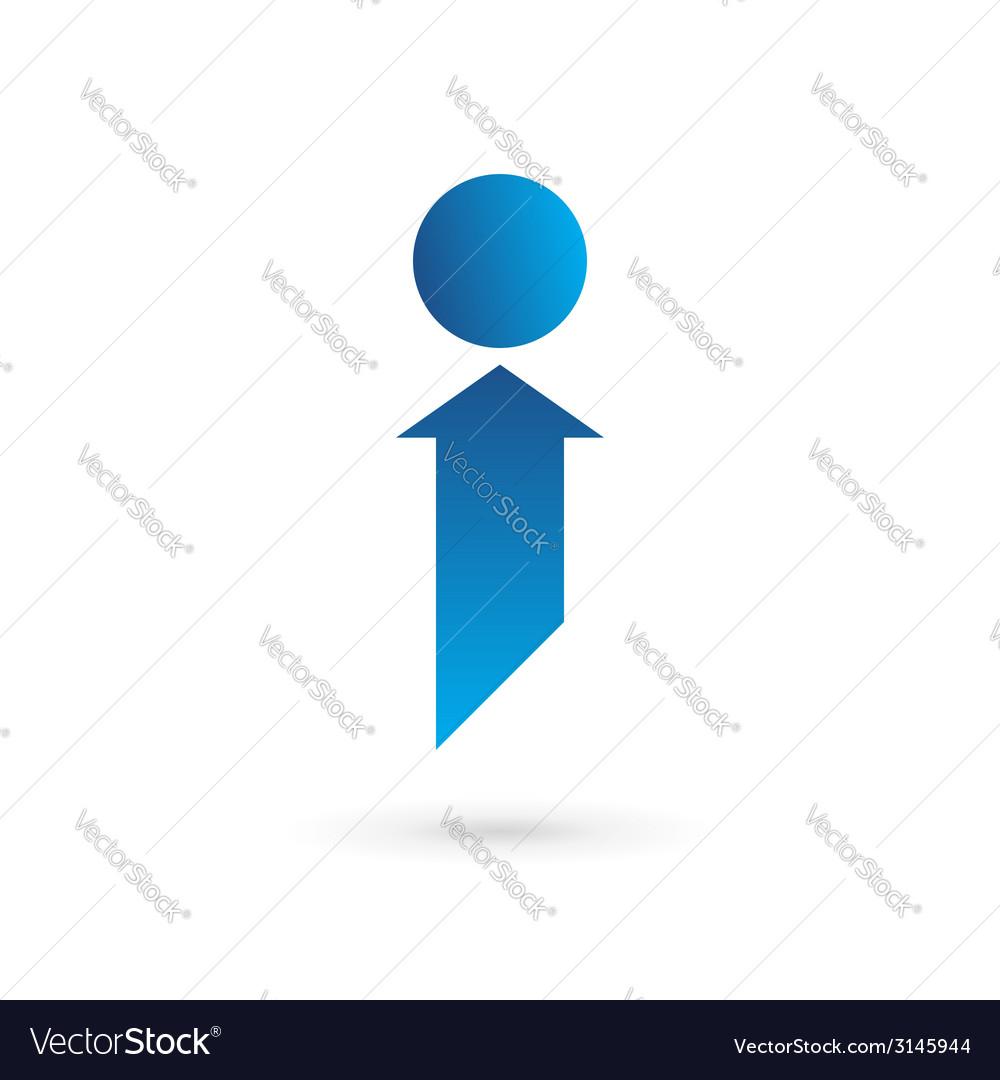 Letter i logo icon design template elements vector | Price: 1 Credit (USD $1)