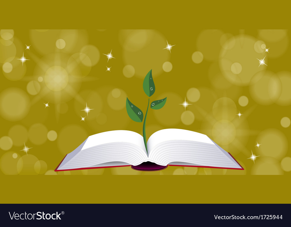 Open book with tree sprout vector | Price: 1 Credit (USD $1)