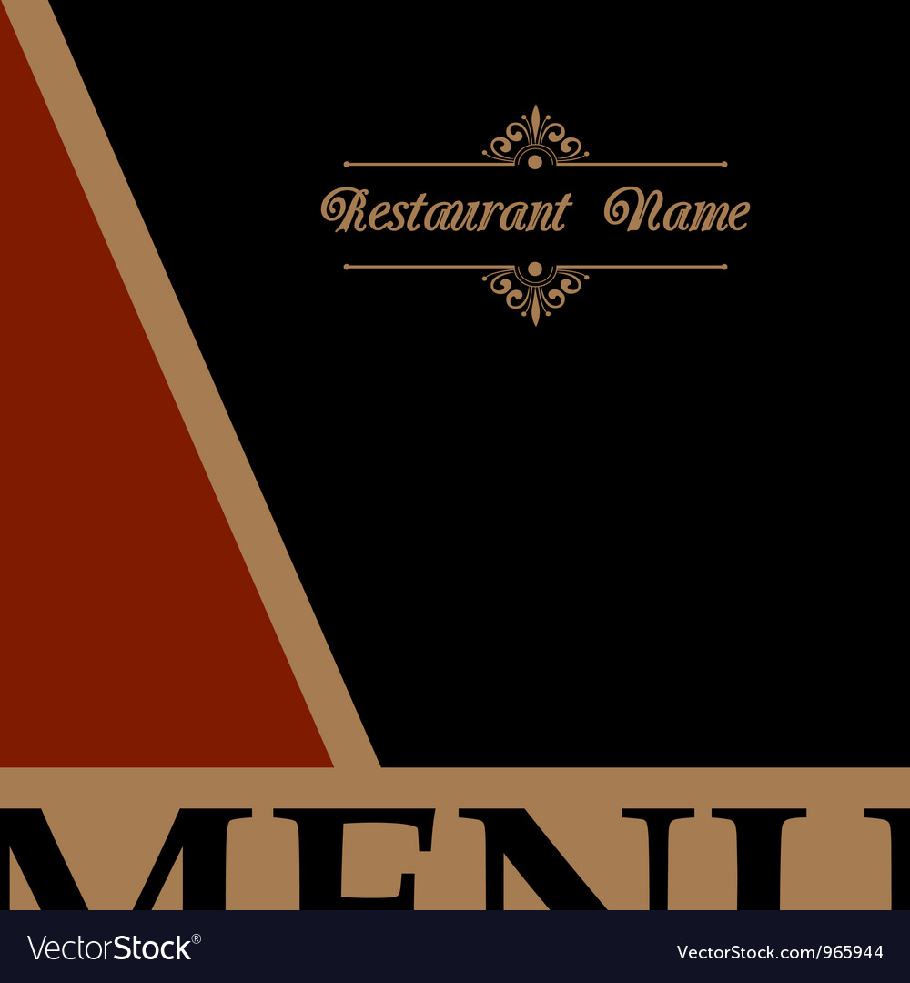 Restaurant menu design in retro style vector | Price: 1 Credit (USD $1)