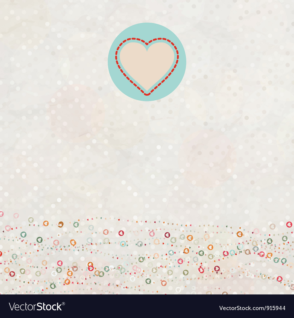 Retro color love card vector | Price: 1 Credit (USD $1)