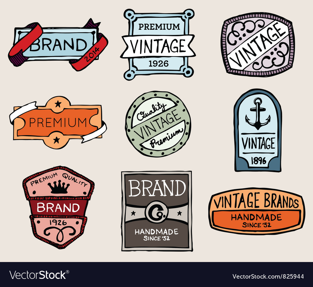 Sketchy labels vector | Price: 3 Credit (USD $3)