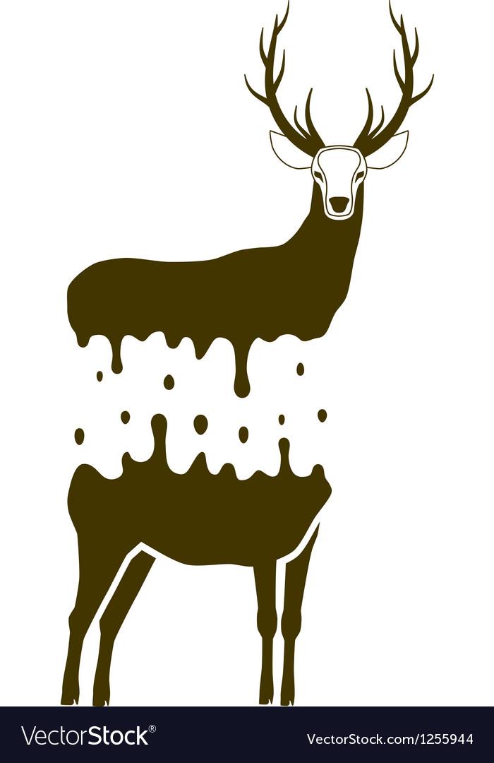 Split deer vector | Price: 1 Credit (USD $1)