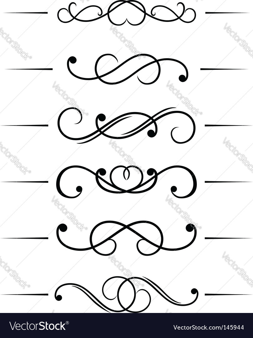 Swirl elements vector | Price: 1 Credit (USD $1)