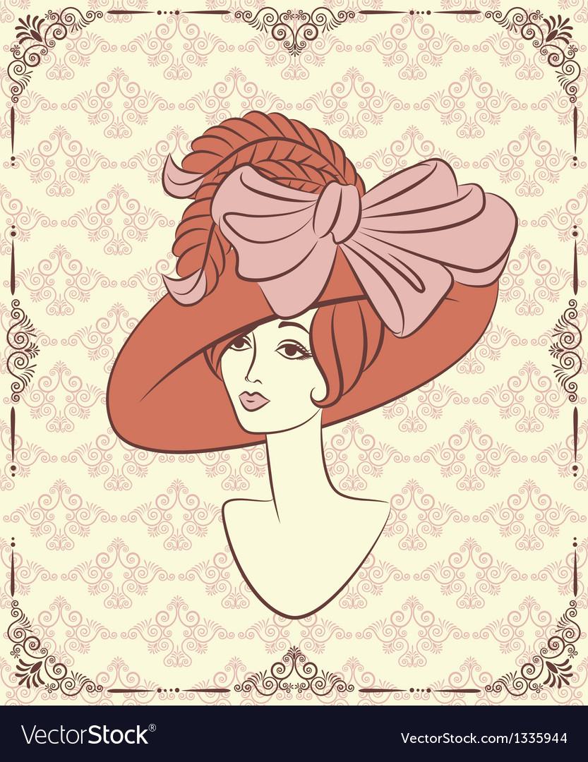 Vintage lady vector | Price: 1 Credit (USD $1)