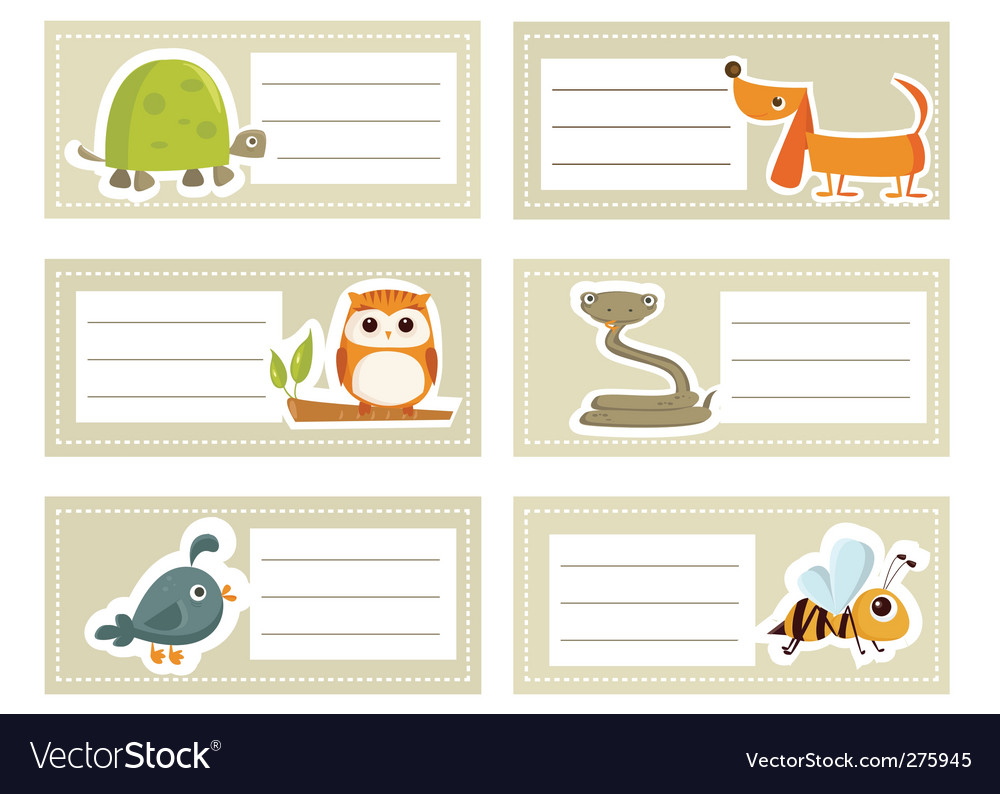 Animal cards vector | Price: 1 Credit (USD $1)