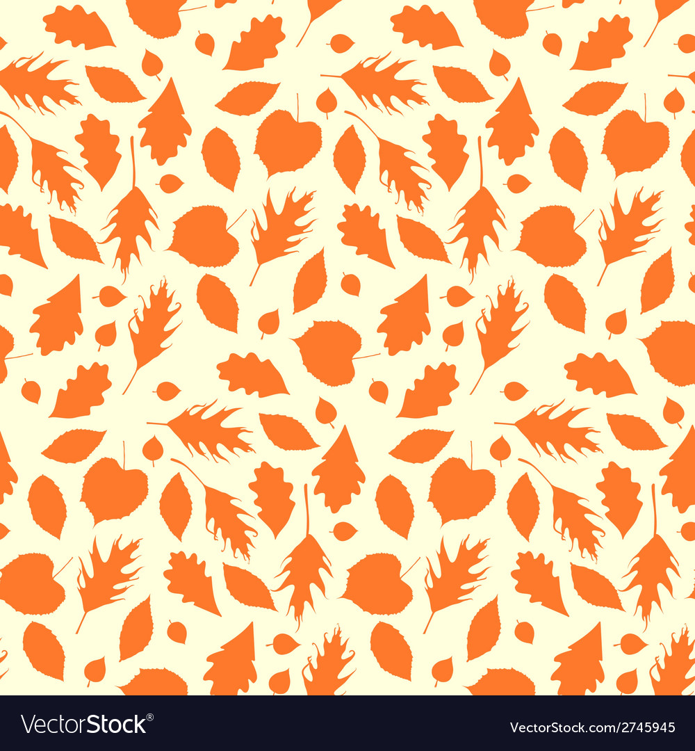 Autumn seamless background with leaves vector | Price: 1 Credit (USD $1)