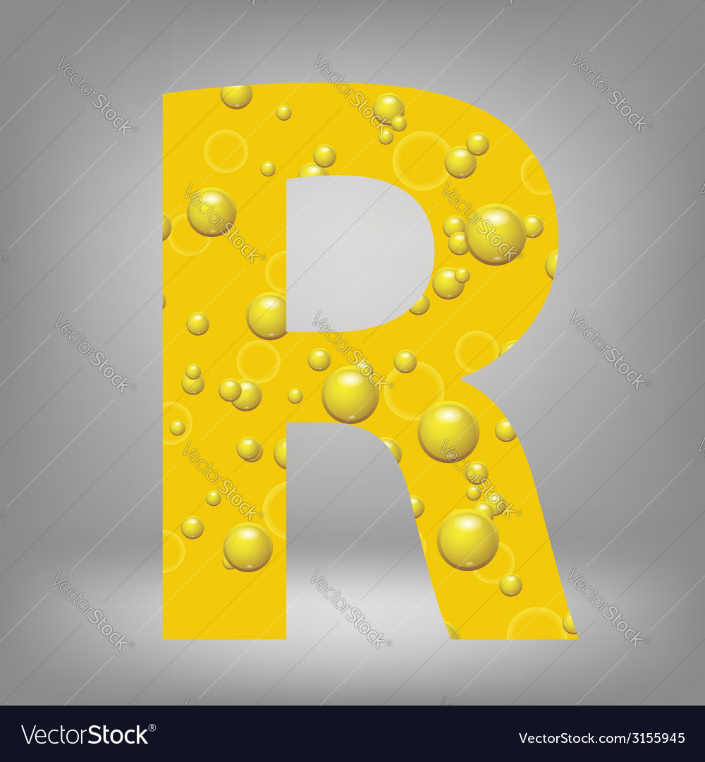 Beer letter r vector | Price: 1 Credit (USD $1)