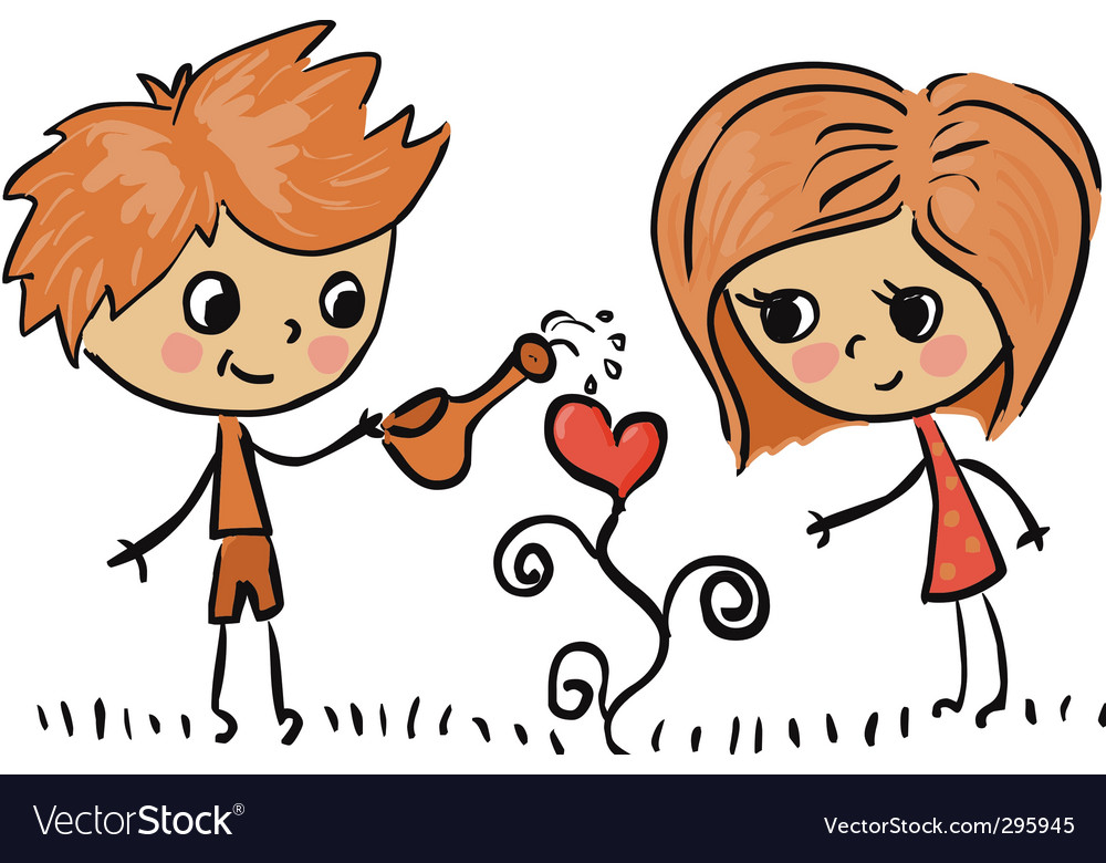 Boy and girl in love vector | Price: 1 Credit (USD $1)