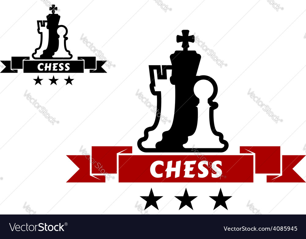 Chess emblem with different chessmen vector | Price: 1 Credit (USD $1)