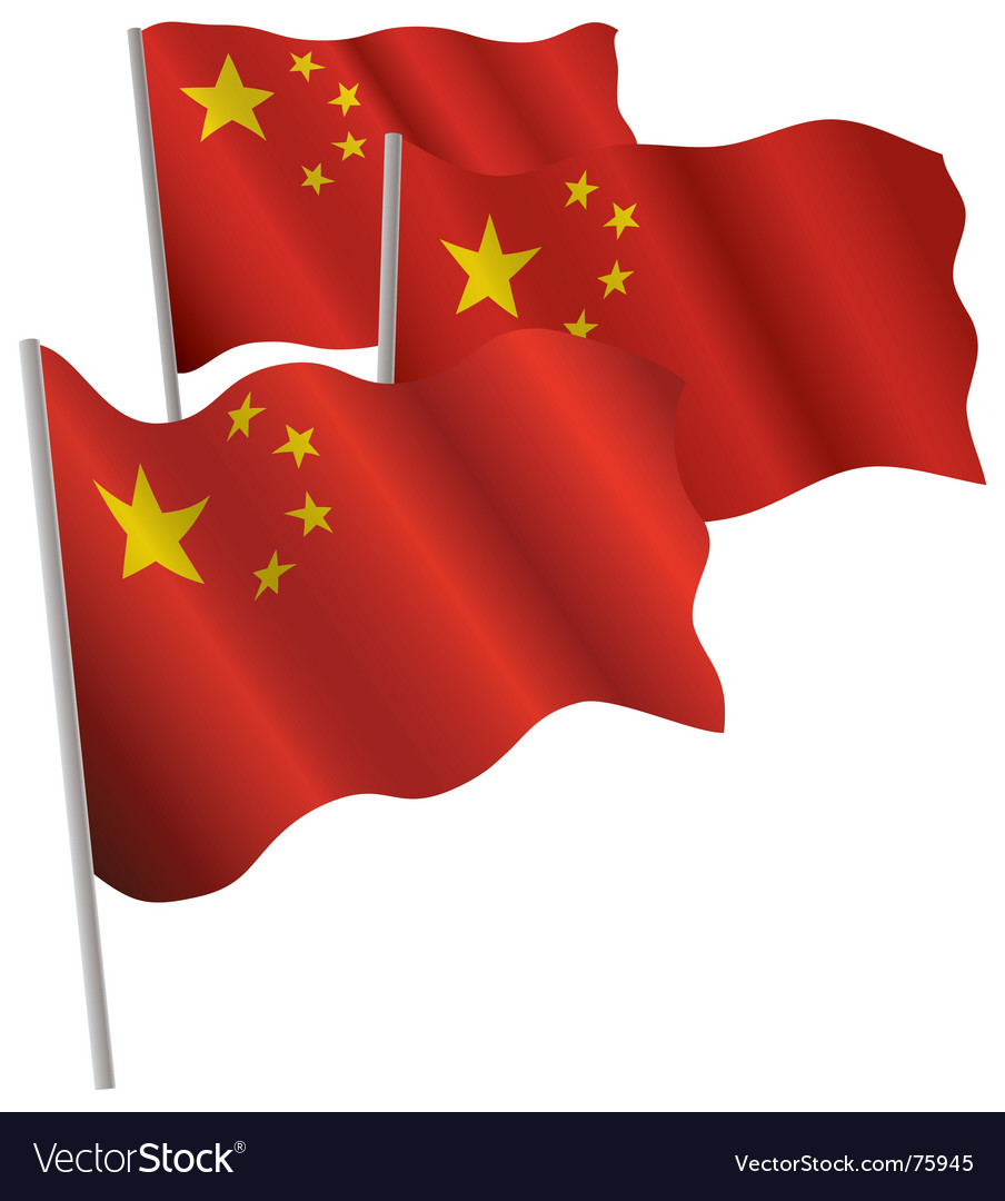 China 3d flag vector | Price: 1 Credit (USD $1)