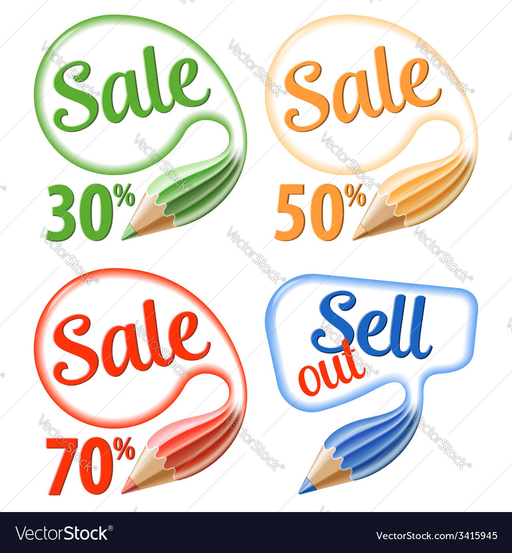 Collect sale signs vector | Price: 1 Credit (USD $1)