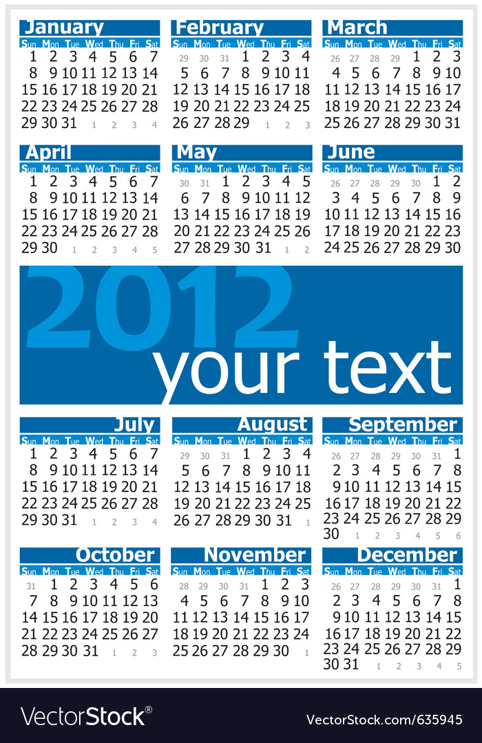 Colorful of 2012 vector | Price: 1 Credit (USD $1)