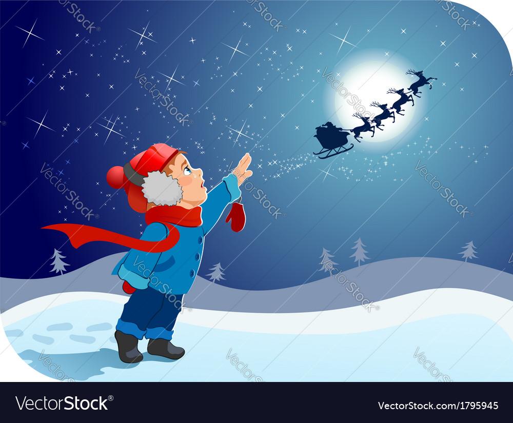 Farewell to santa vector | Price: 1 Credit (USD $1)