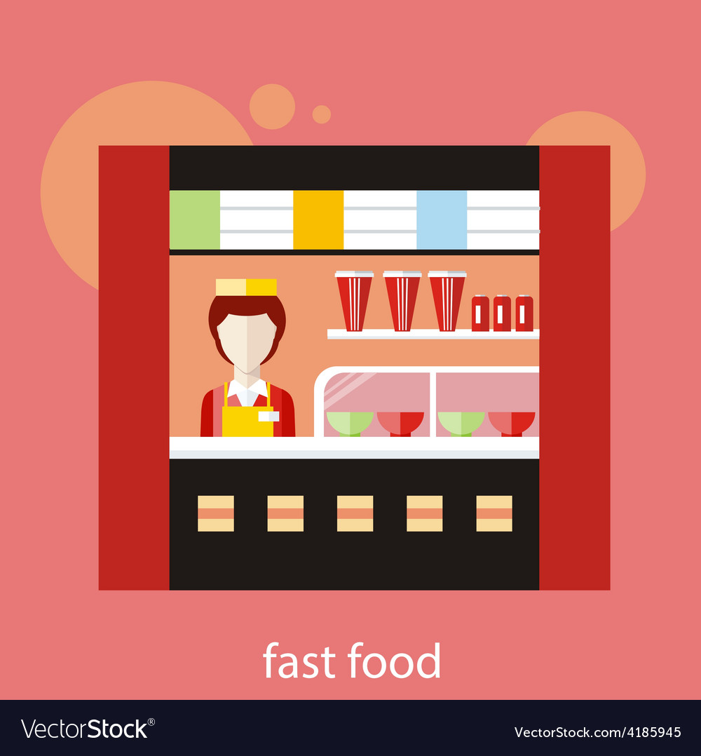 Fast food restaurant vector | Price: 1 Credit (USD $1)
