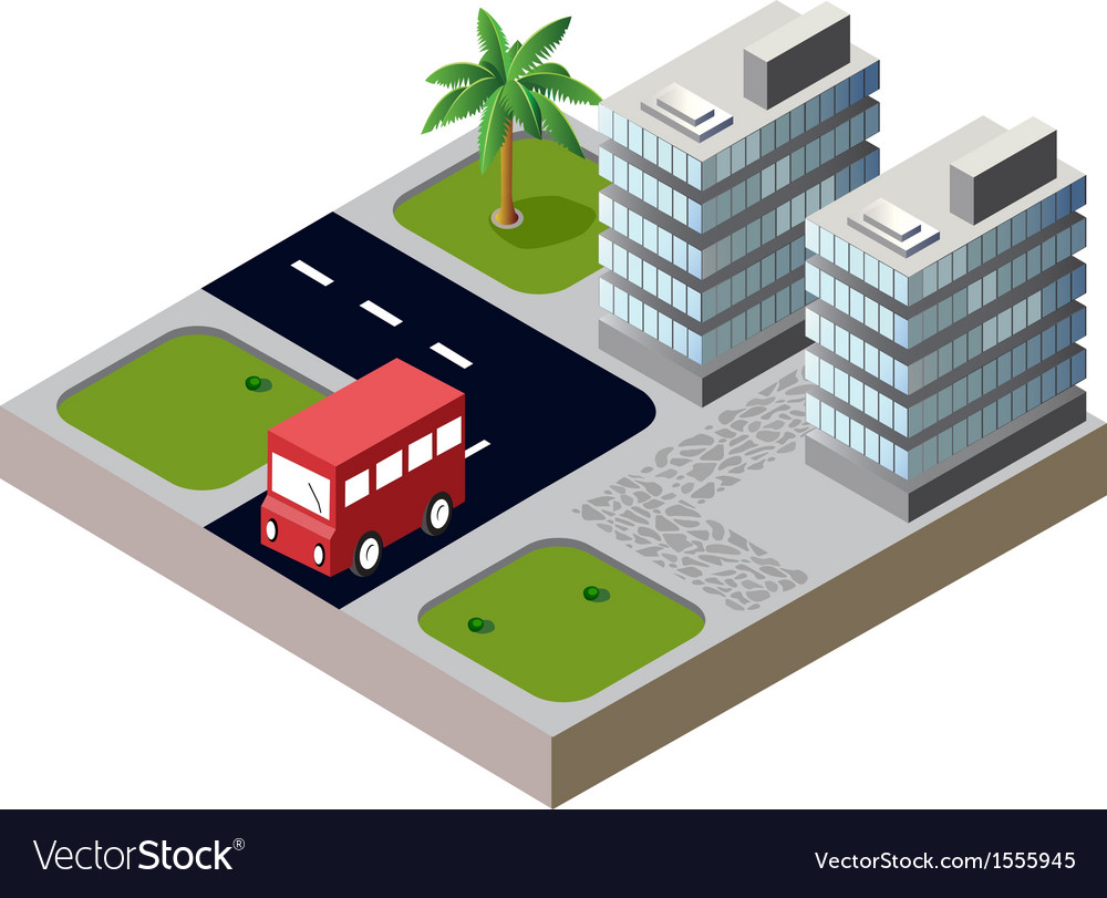 Houses and roads vector | Price: 1 Credit (USD $1)