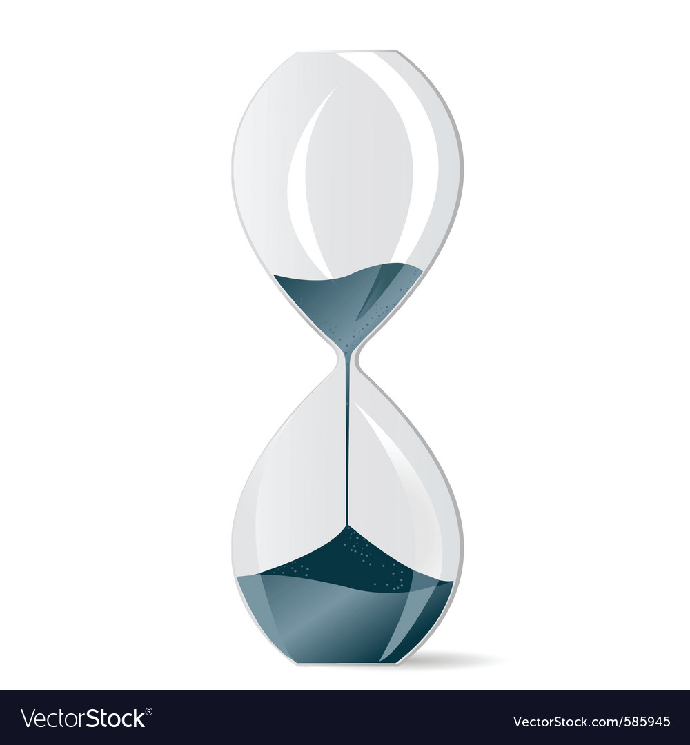 Modern hourglass vector | Price: 1 Credit (USD $1)