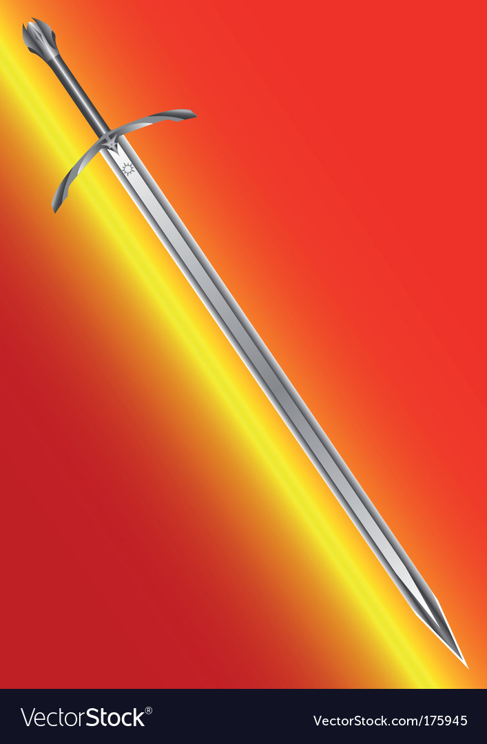 Steel ancient sword vector | Price: 1 Credit (USD $1)