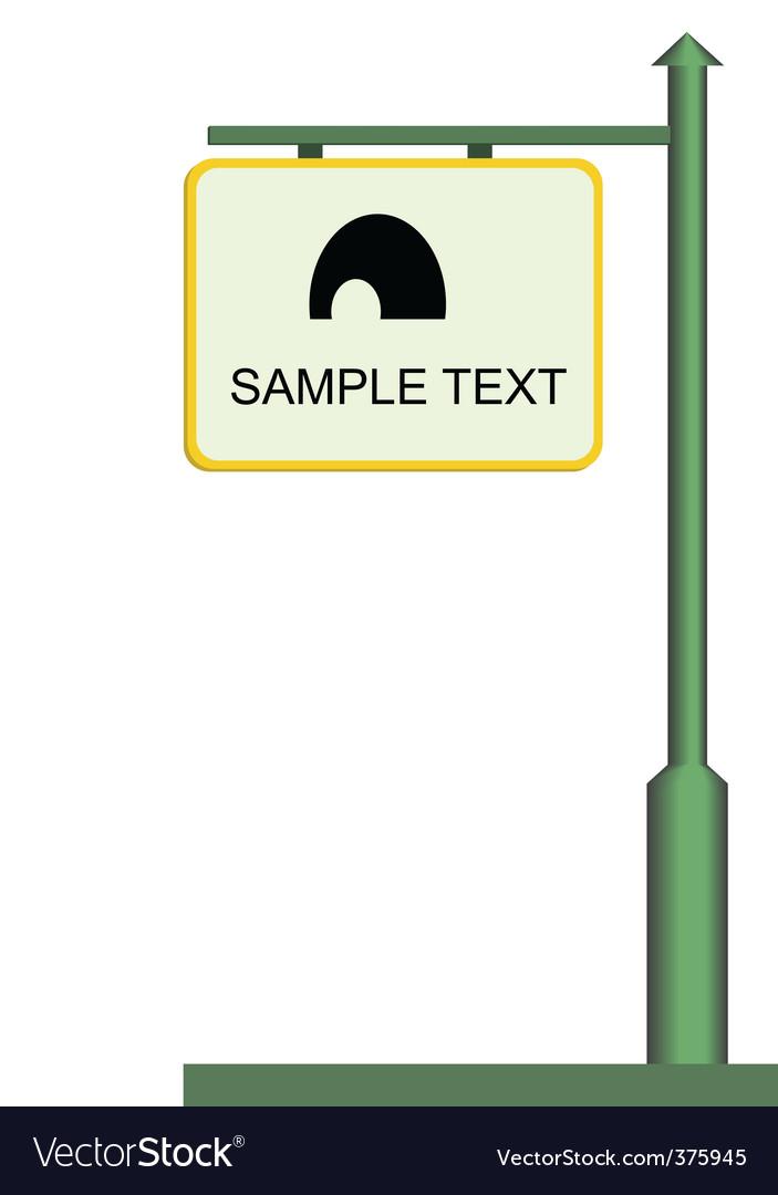 Street notice board vector | Price: 1 Credit (USD $1)