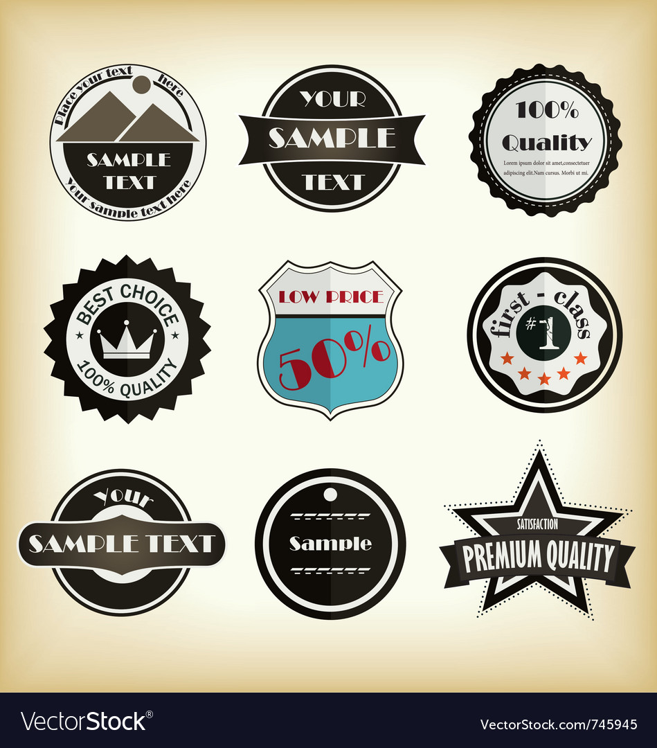 Vintage styled label design vector | Price: 1 Credit (USD $1)