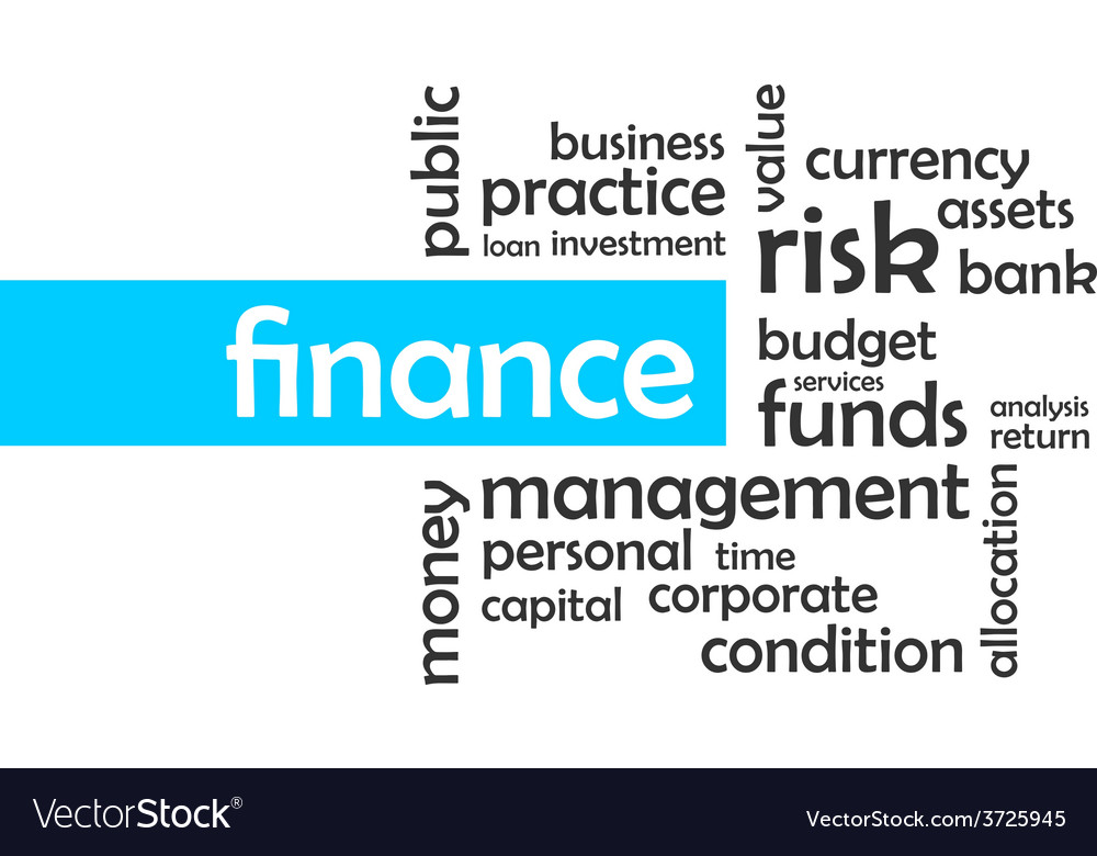 Word cloud finance vector | Price: 1 Credit (USD $1)
