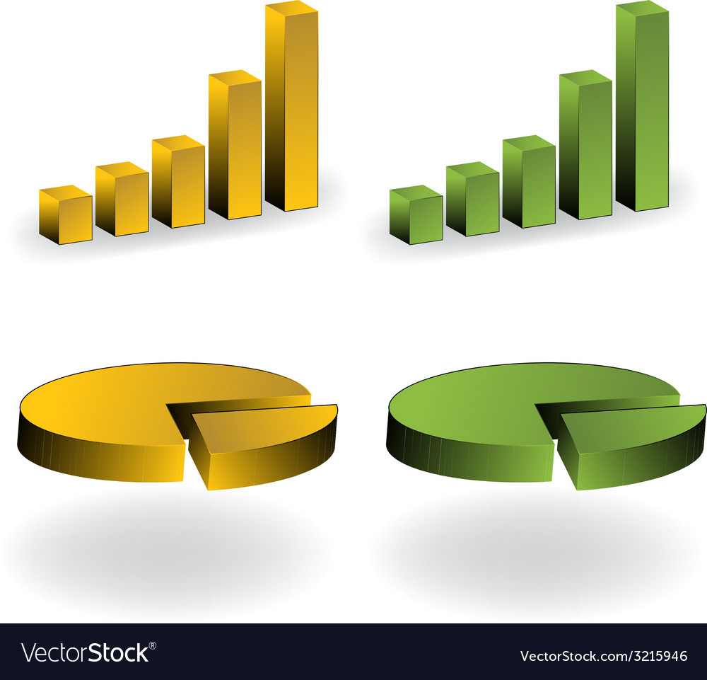 3d colored graphs vector | Price: 1 Credit (USD $1)