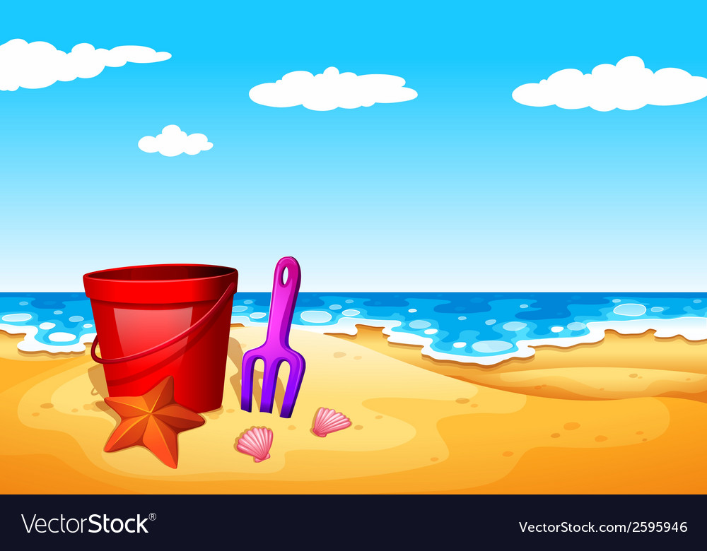 A seashore at the beach vector | Price: 3 Credit (USD $3)