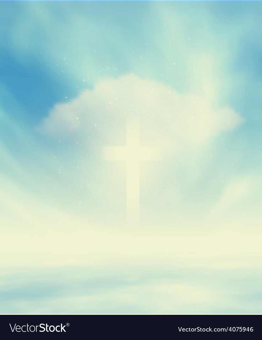 Christian glowing cross vector | Price: 1 Credit (USD $1)