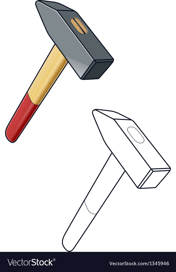 Hammer working tool vector | Price: 1 Credit (USD $1)