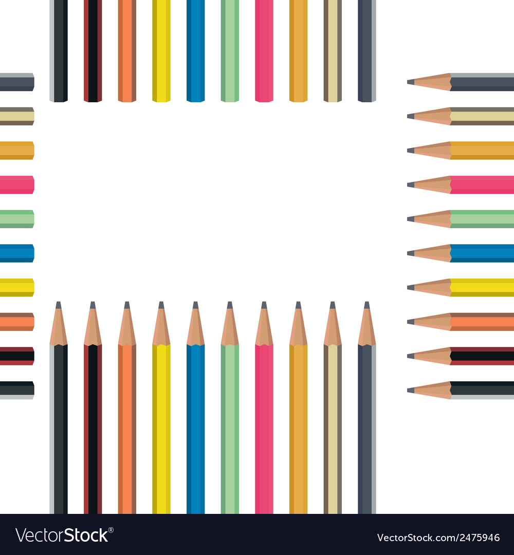 Pencil seamless pattern vector | Price: 1 Credit (USD $1)