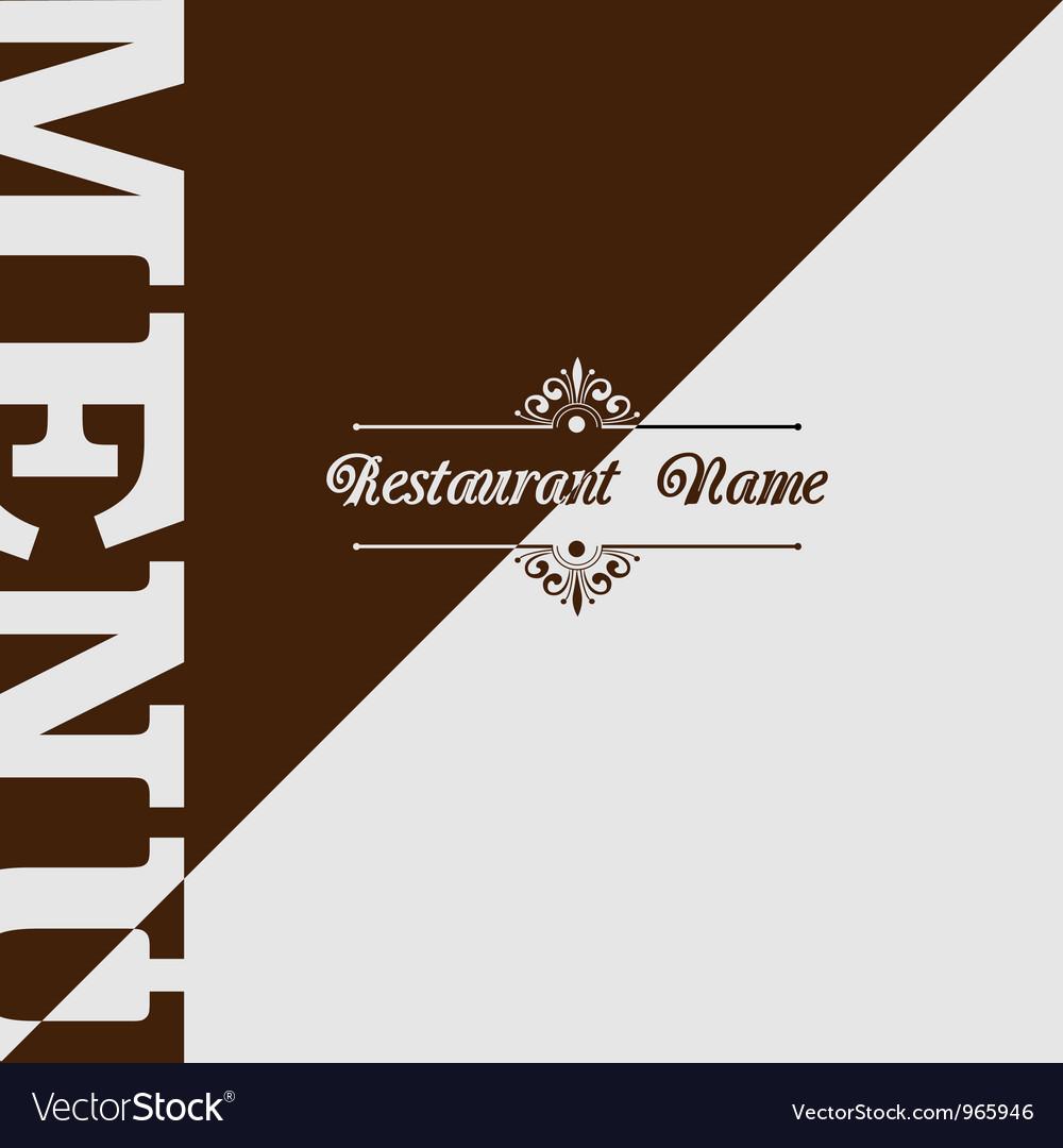Retro restaurant menu design vector   Price: 1 Credit (USD $1)