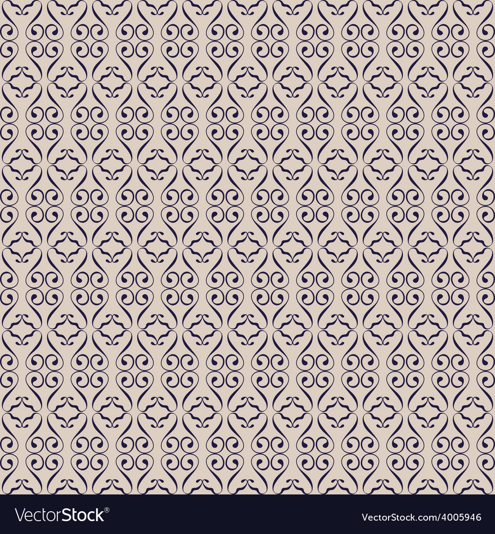 Seamless background swirl ornament vector | Price: 1 Credit (USD $1)