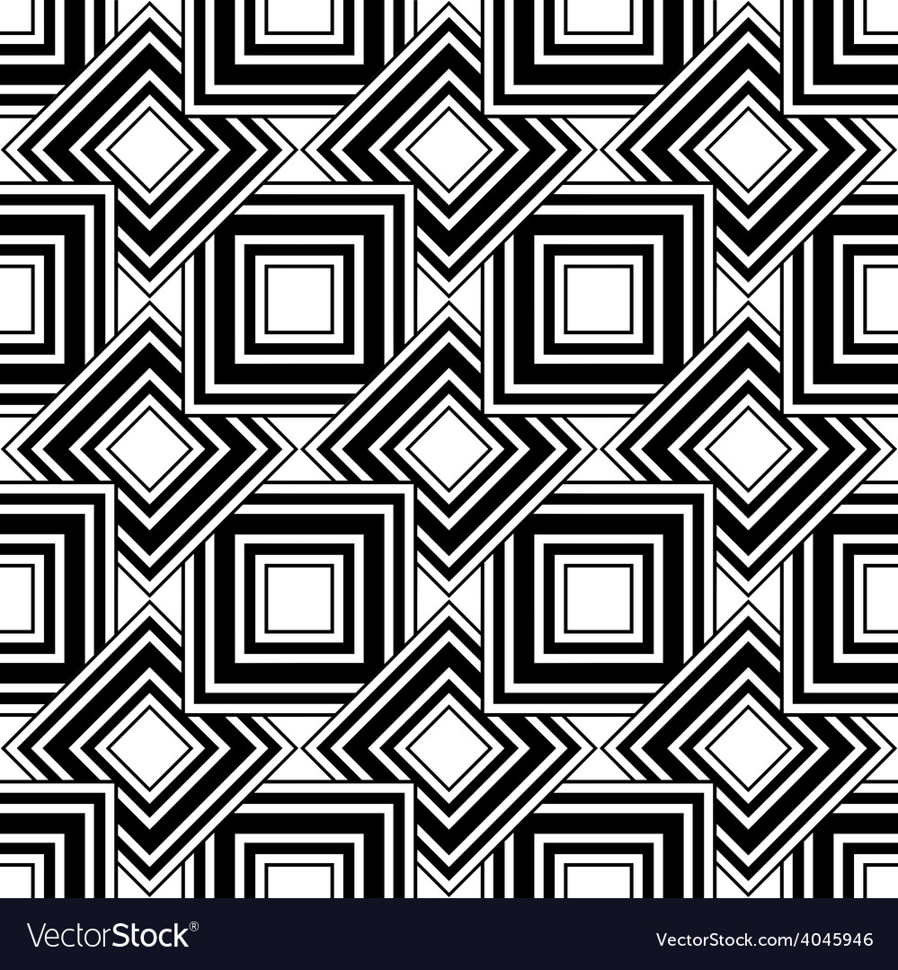 Seamless geometric pattern black and white simple vector | Price: 1 Credit (USD $1)