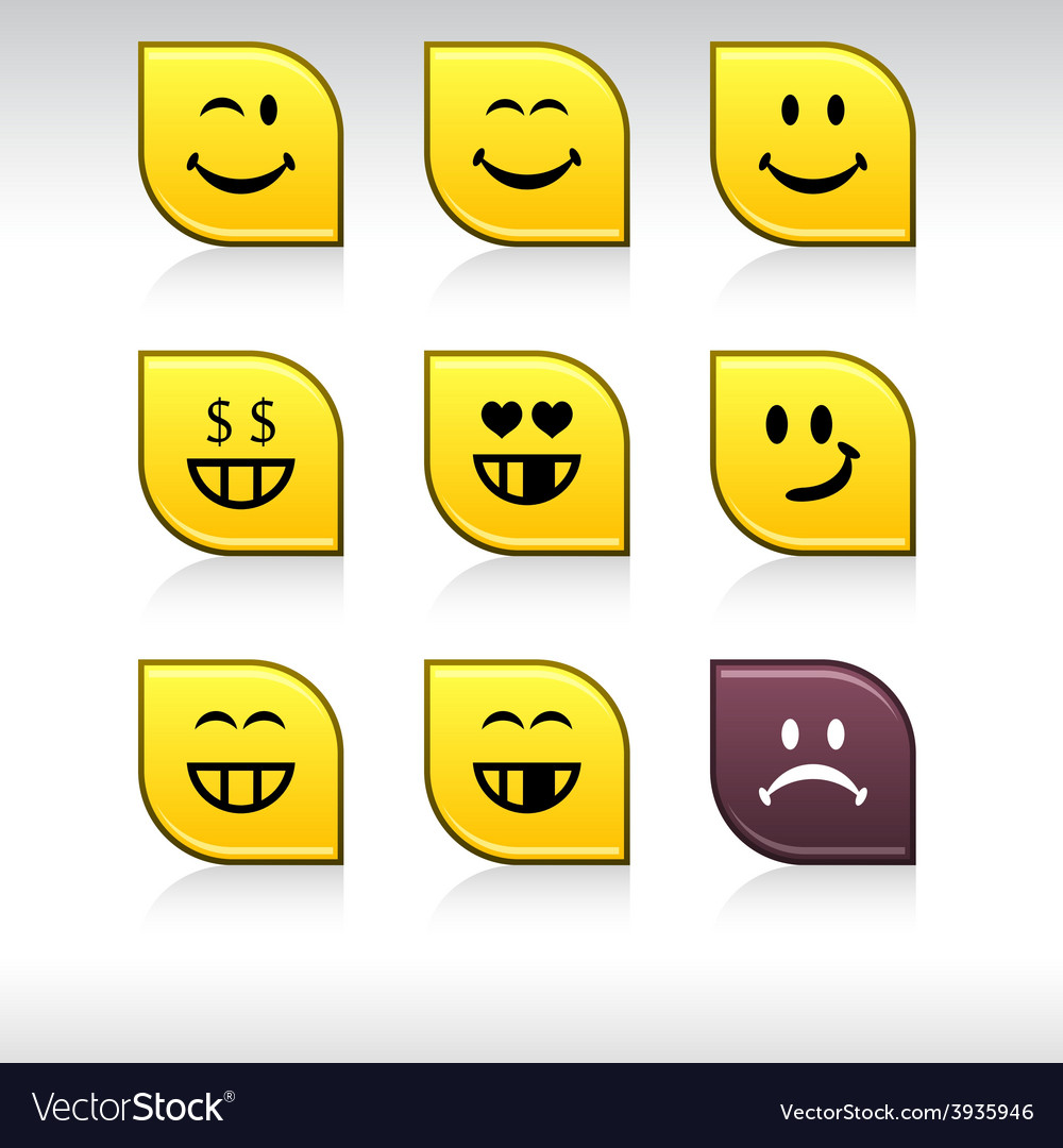 Smiley icons vector | Price: 1 Credit (USD $1)