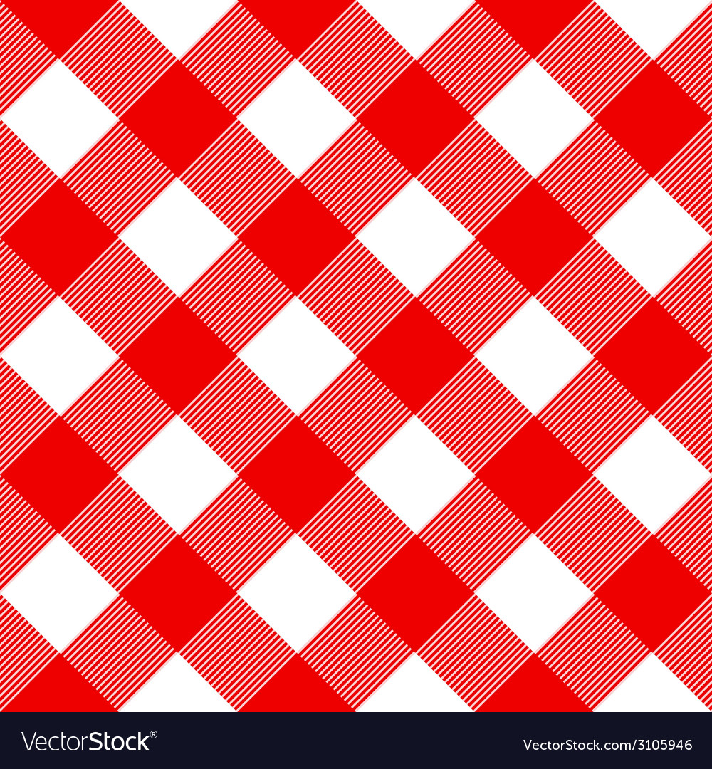 Tablecloth pattern red vector | Price: 1 Credit (USD $1)