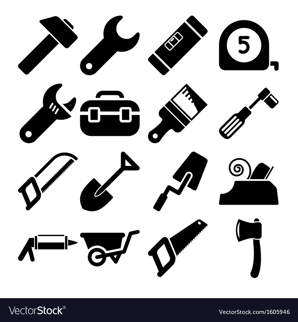 Tools icons vector | Price: 1 Credit (USD $1)