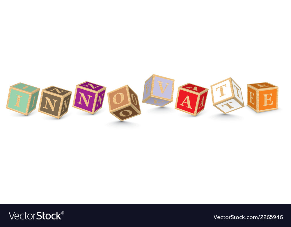 Word innovate written with alphabet blocks vector | Price: 1 Credit (USD $1)
