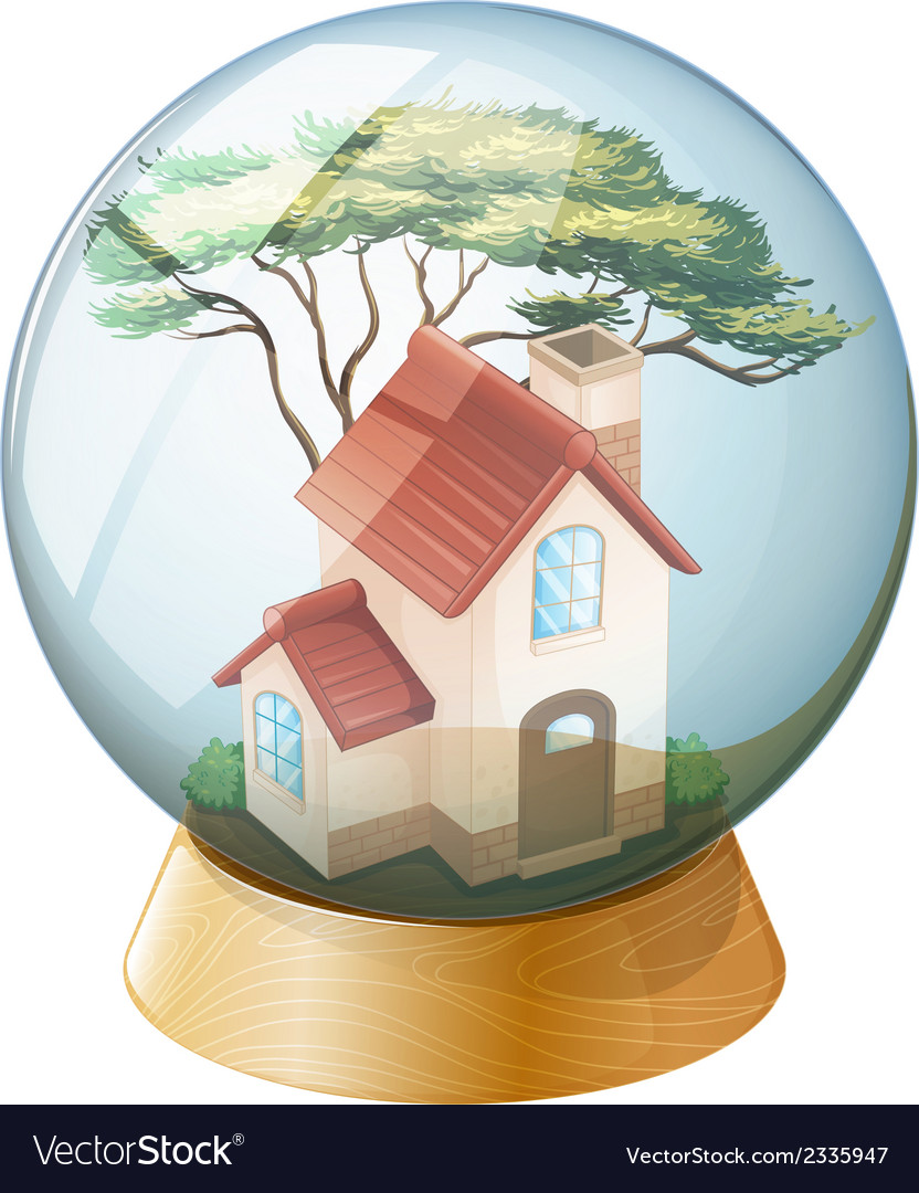 A house inside the crystal ball vector | Price: 1 Credit (USD $1)