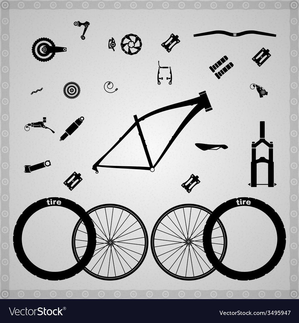 Bicycle components vector | Price: 1 Credit (USD $1)