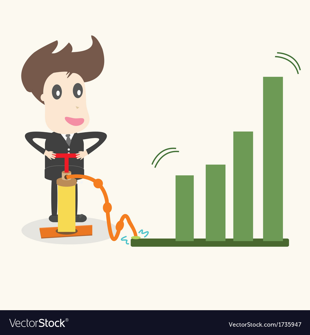 Businessman make a chart going upbusiness idea vector | Price: 1 Credit (USD $1)