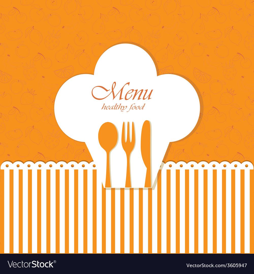 Card menu vector | Price: 1 Credit (USD $1)