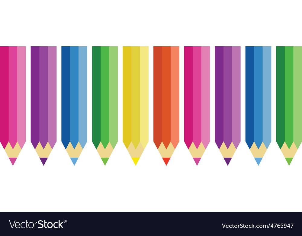 Color pencils set vector | Price: 1 Credit (USD $1)