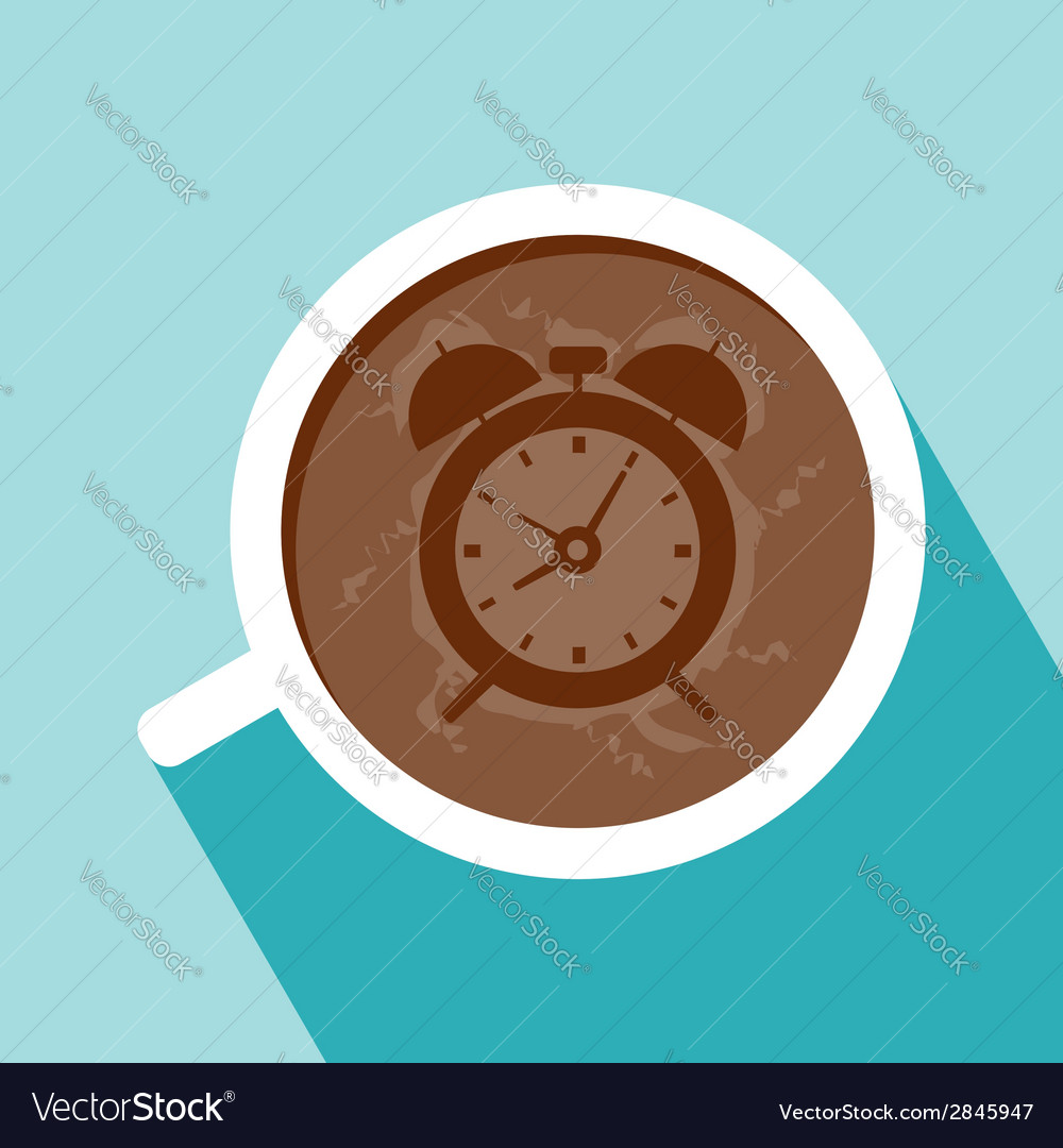 Cup of coffee flat design vector | Price: 1 Credit (USD $1)