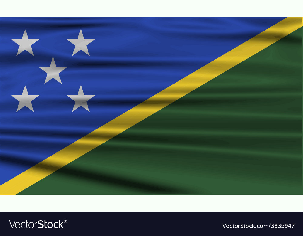 Flag of solomon islands with old texture vector   Price: 1 Credit (USD $1)