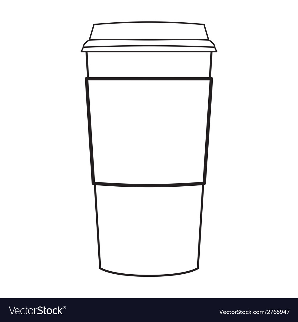 Paper coffee cup outline vector | Price: 1 Credit (USD $1)