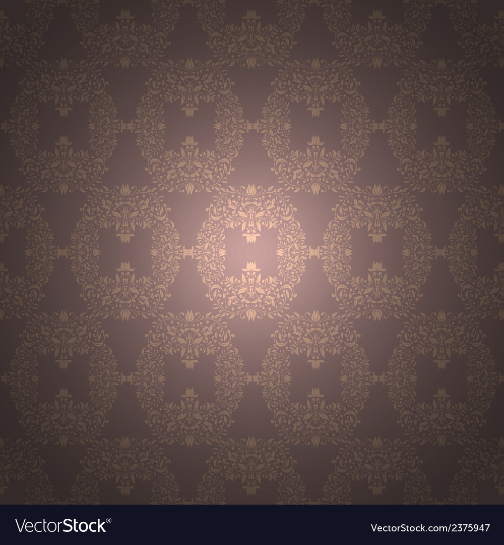 Rich floral ornament baroque wallpaper vector | Price: 1 Credit (USD $1)